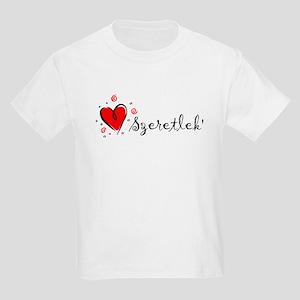 """I Love You"" [Hungarian] Kids T-Shirt"